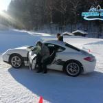 Photo stage conduite pilotage glace sur le circuit glace Abondance
