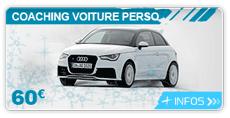Cours de conduite glace avace sa voiture