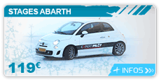 lien stage pilotage glace abarth
