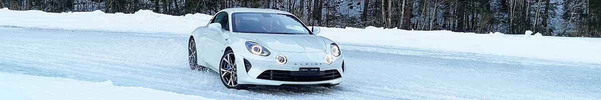 stage conduite hiver alpine glace
